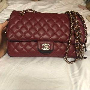Chanel Lambskin double flap quilted leather red